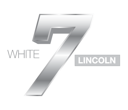 White 7 Lincoln Logo